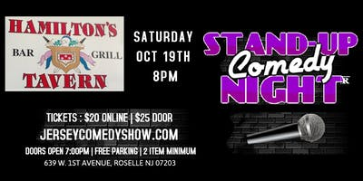 Stand-Up Comedy Night at Hamilton's Tavern, Roselle NJ - Sat Oct 19th 8pm