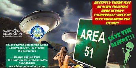 Guided Alien Kayak Hunt tickets