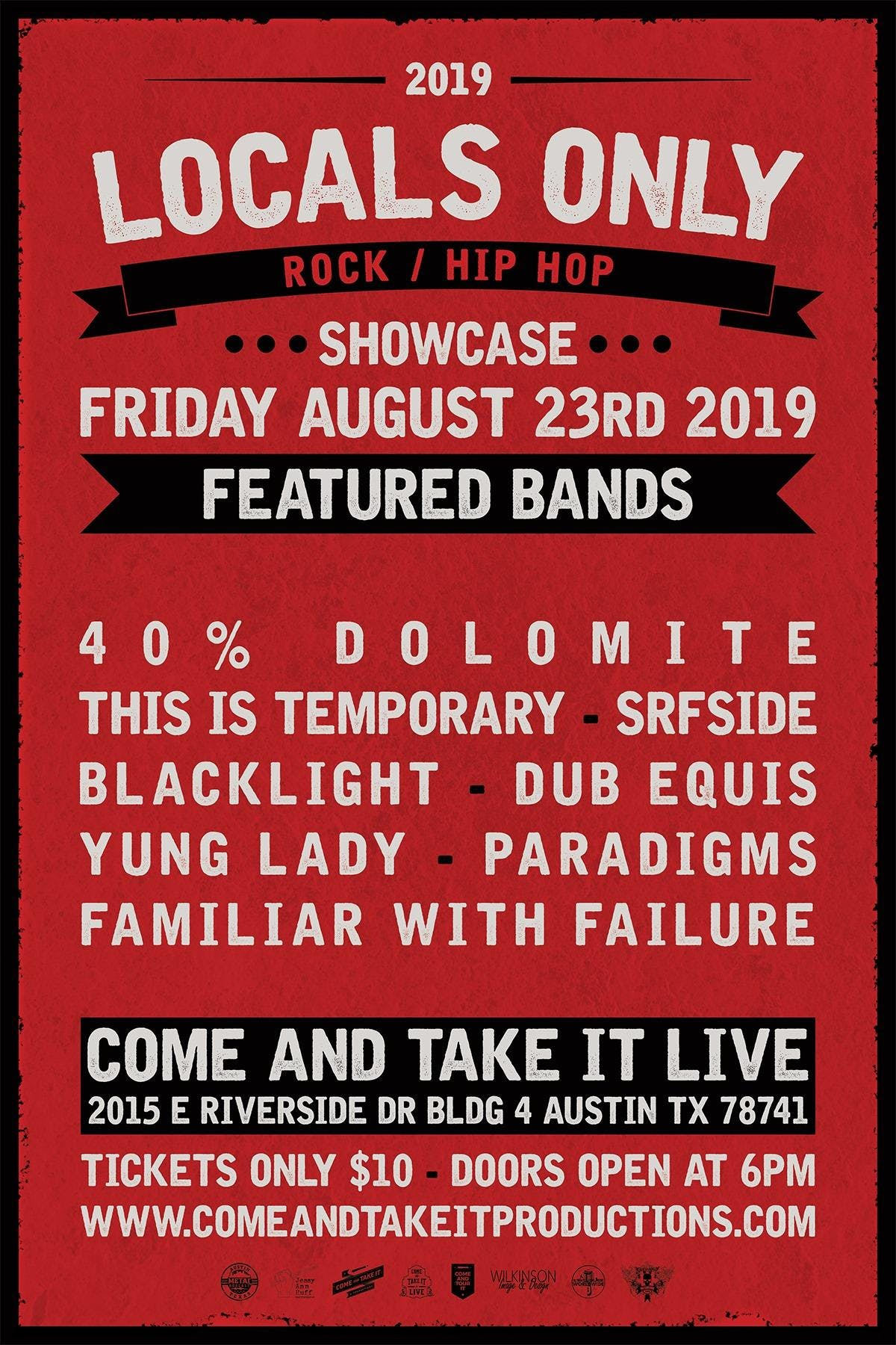 LOCALS ONLY: Rock / Hip Hop Showcase