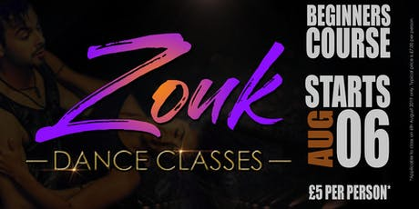 Zouk Beginners Course (Wk 1) tickets