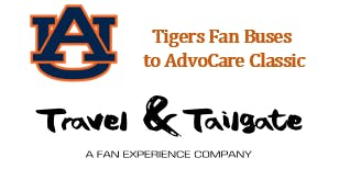 Auburn Tigers Fan Buses Downtown Dallas to AT&T Stadium
