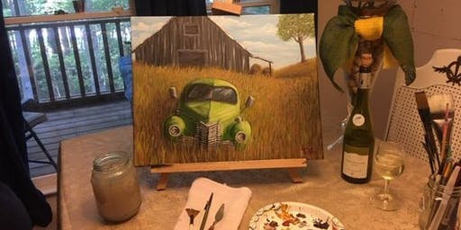 """Out to Pasture"" Chathamites Wine and Paint"