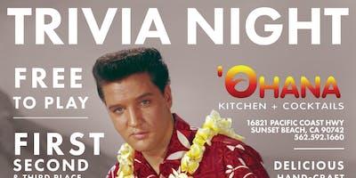 FREE TRIVIA! Mondays at Ohana Kitchen + Cocktails
