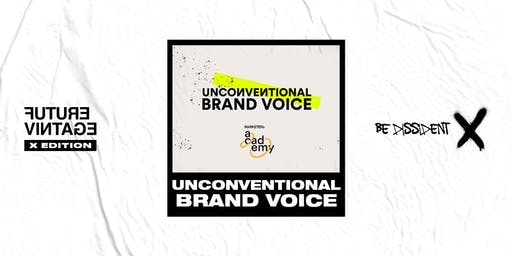 MARKETERs Unconventional Brand Voice - Sabato 14 Settembre // Future Vintage Festival 2019
