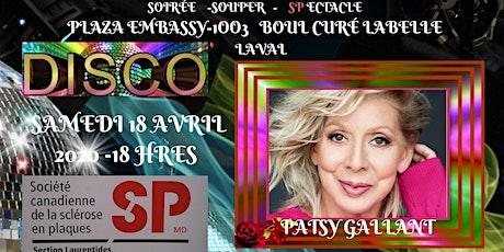 Patsy Gallant levée de fonds pour la sclérose en plaques section Laval billets