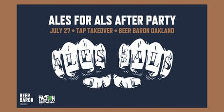 Ales for ALS - After Party & Tap Takeover tickets