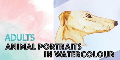 Adults Animal Portraits Watercolour Class tickets
