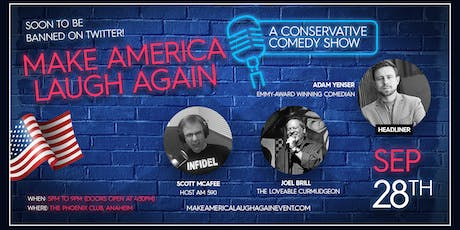 Make America Laugh Again - Dinner & Comedy Social Event tickets