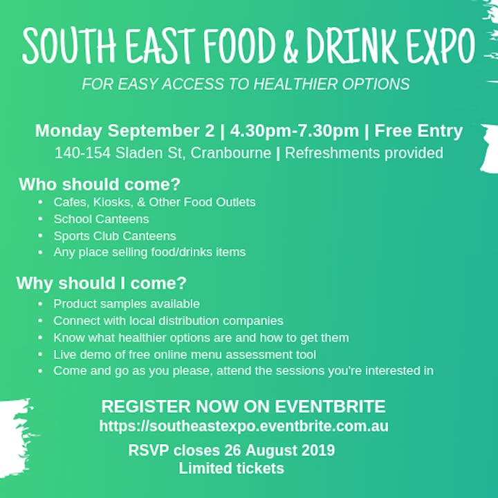 South East Food & Drink Expo - 2 SEP 2019