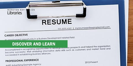 Get That Job! Resume Rescue - Arana Hills Library tickets
