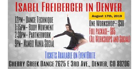 Isabel Freiberger in Denver tickets