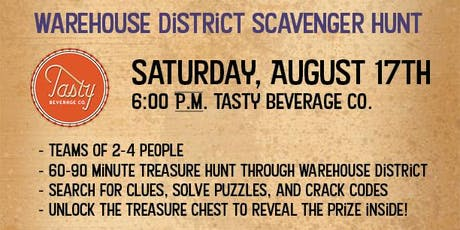 Raleigh Warehouse District Treasure Hunt - Tasty Beverage Co. tickets