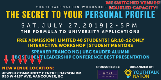The Formula to University Applications | YouthTalkNation Workshop Series