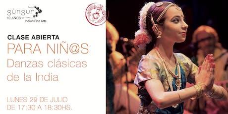Clase abierta y gratuita: danzas clásicas de la India para niñ@s! entradas