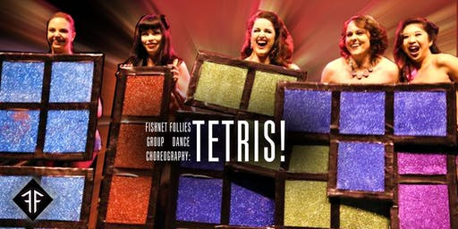 "Burlesque Group Dance Choreography: ""TETRIS!"" Level 2 - Fishnet Follies"