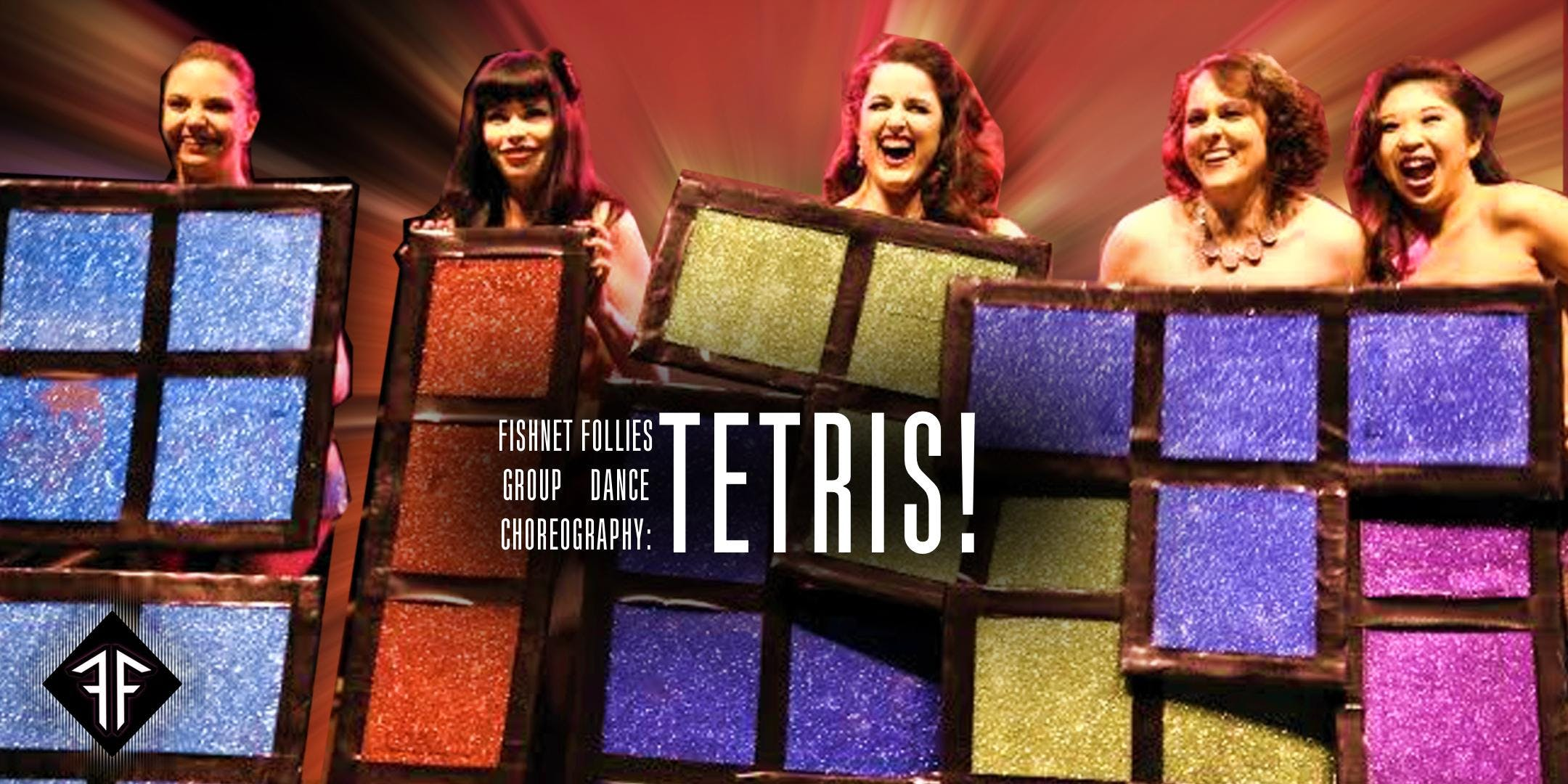 Burlesque Group Dance Choreography TETRIS Level 3 - Fishnet Follies