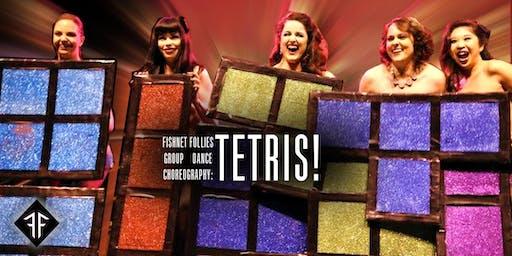 "Burlesque Group Dance Choreography: ""TETRIS!"" Level 3 - Fishnet Follies"