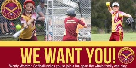 Wenty Waratahs Softball Club Come and Try Softball Day
