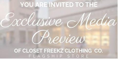 Exclusive Media Preview | Closet Freekz International Clothing Co. tickets