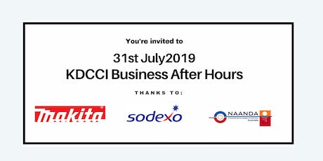 KDCCI BAH July 2019 - Naanda, Makita and Sodexo  tickets