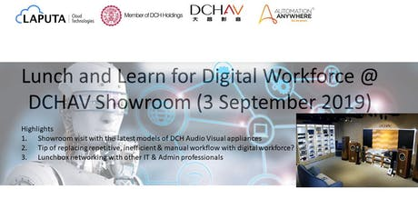 Lunch and Learn for Digital Workforce @ DCHAV Showroom tickets