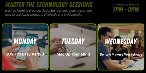 Master the Technology Sessions! at Switch Paragon Mall