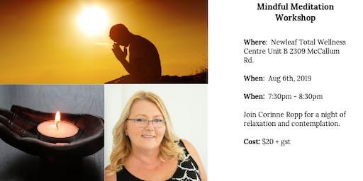 Mindful Meditation Workshop