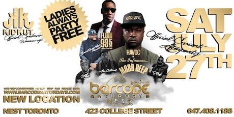 BARCODE SATURDAYS W/ HAVOC FROM MOBB DEEP tickets
