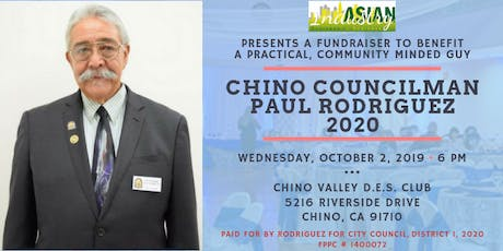 AIB2B Presents A Special Fundraiser for Chino Councilman Paul Rodriguez tickets