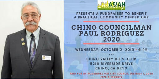 AIB2B Presents A Special Fundraiser for Chino Councilman Paul Rodriguez