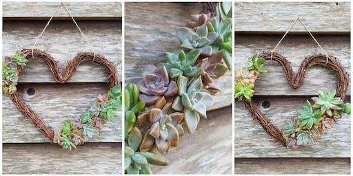 Succulent Heart Wreath Workshop