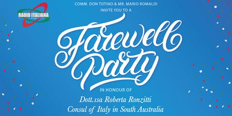 Farewell Dinner Italian Consul tickets