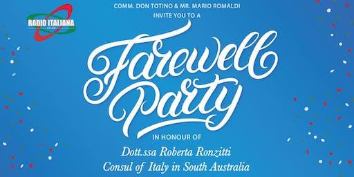 Farewell Dinner Italian Consul