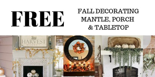 FREE FALL DECORATING CLASS...Colors Of The Season
