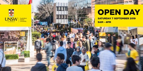 UNSW Open Day 2019 tickets