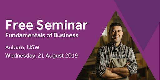 Free Seminar: Business Basics 101 – Auburn, 21st August