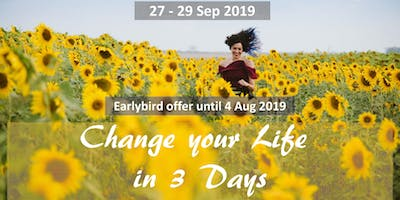 Change your Life in 3 Days (early bird offer)