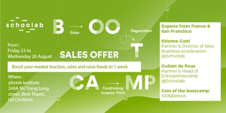 Bootcamp by Schoolab-Boost your sales and raise funds in 1 week tickets