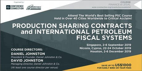 Production Sharing Contracts and International Petroleum Fiscal Systems tickets