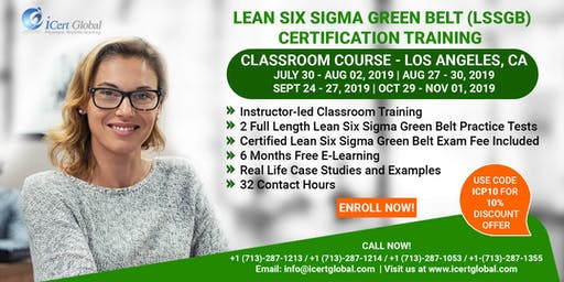 Lean Six Sigma Green Belt Certification Training Course in Los Angeles, CA, USA.