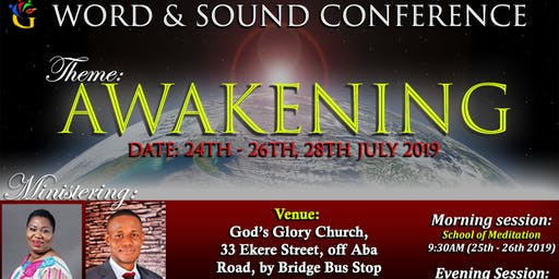 WORD & SOUND CONFERENCE - AWAKENING