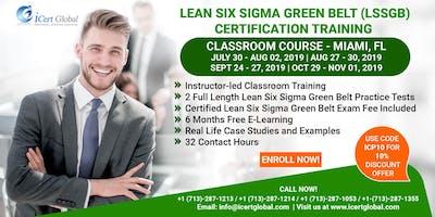 Lean Six Sigma Green Belt Certification Training Course in Miami, FL, USA.