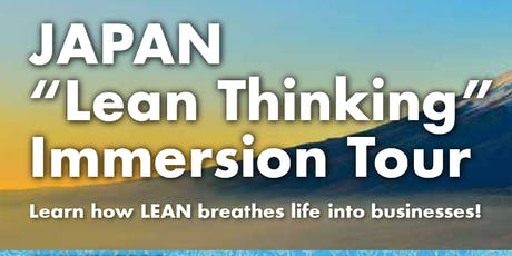Japan Lean Thinking Immersion Tour tickets