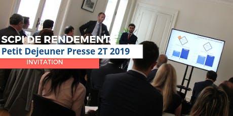 SCPI DE RENDEMENT - Performances du Deuxième Trimestre 2019 billets
