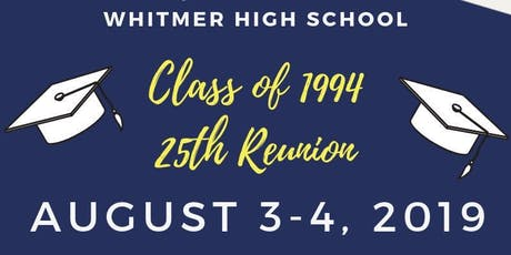 Whitmer High School C/O '94 25th Reunion tickets