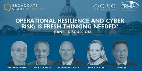 Operational Resilience and Cyber Risk: Is Fresh Thinking Needed? tickets
