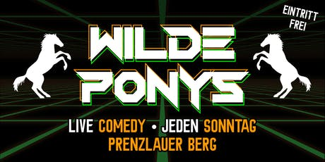 """Stand-up Comedy • in P-Berg • 28. Juli • """"WILDE PONYS"""" Tickets"""