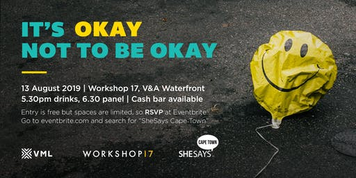 SheSays Cape Town #6: It's okay not to be okay