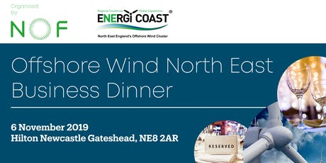 Offshore Wind North East Dinner 2019 tickets