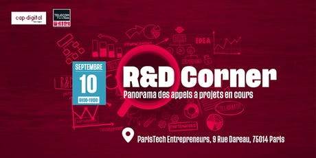 R&D CORNER - Septembre 2019 tickets